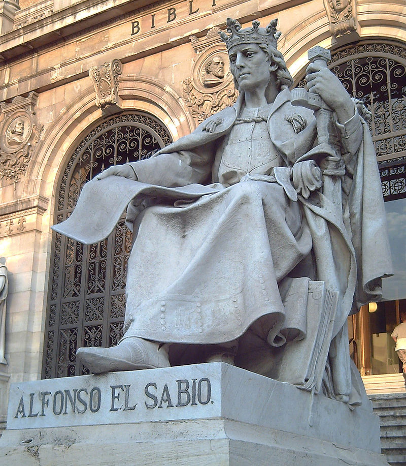 Credit: Luis Garcia (https://en.wikipedia.org/wiki/Siege_of_Algeciras_(1278%E2%80%9379)#/media/File:Alfonso_X_el_Sabio_(Jos%C3%A9_Alcoverro)_02.jpg)